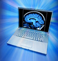 Brain Scan Computer Health Royalty Free Stock Photography