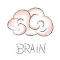 Brain Scribble Vector Illustra...