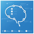Brain shape business and medical infographic design template background Royalty Free Stock Photos