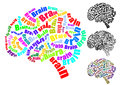 Brain text Stock Photos