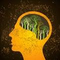 Brain Tree Illustration, Tree ...