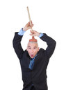 Brain washing and public values advocacy plumbing head with plunger isolated on white background Stock Images
