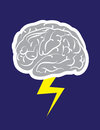 Brainstorm lightning cloud with striking Royalty Free Stock Photography