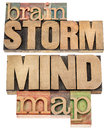Brainstorm and mind map Stock Photos