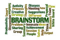 Brainstorm word cloud on white background Royalty Free Stock Image