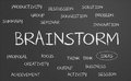 Brainstorm word cloud written on a chalkboard Royalty Free Stock Photography