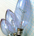 Brainstorming bulb ideas Royalty Free Stock Photo