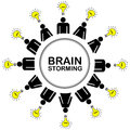 Brainstorming concept with people having ideas Royalty Free Stock Photo