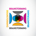 Brainstorming group concept abstract background Stock Photo