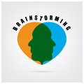 Brainstormming znak Fotografia Royalty Free