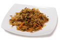 Braised cabbage with onions and carrots Stock Image
