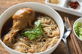 Braised chicken noodle soup thai style Royalty Free Stock Images