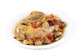 Braised guinea fowl Royalty Free Stock Photo