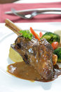 Braised lamb shank Royalty Free Stock Photo
