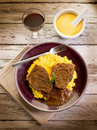 Braised meat and   porridge Stock Photography