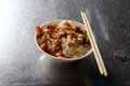 Braised pork rice chinese food Stock Images