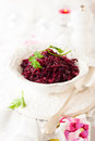 Braised red cabbage with apples for christmas Stock Photography