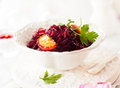 Braised red cabbage with apples for christmas Royalty Free Stock Photos