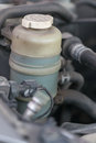 Brake fluid in the tank at max level. Royalty Free Stock Photo