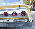 Brake lights the old chevrolet car or tail Royalty Free Stock Photo
