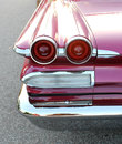 Brake lights the old pontiac catalina car or tail Stock Images