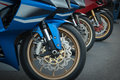 Brake motorcycle Royalty Free Stock Photo