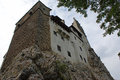 Bran castle built on a rock the famous in transylvania romania was the former home of vlad the impaler also known as dracula Royalty Free Stock Photos