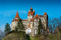 Bran castle from distant view Royalty Free Stock Photo