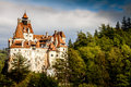 Bran castle romania transylvania associated with dracula known as draculas in a sunny autumn day in Royalty Free Stock Photo