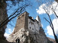 Bran castle situated near bran immediate vicinity braåÿov national monument landmark romania fortress situated border Stock Images