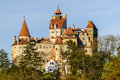 Bran castle in transylvania romania landscape with dracula Royalty Free Stock Image