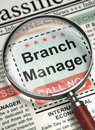 Branch Manager Wanted. 3D.