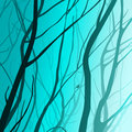 Branches interlacing moonlight illustration Royalty Free Stock Images
