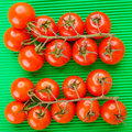 Branches of red tomatoes Stock Photography