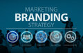 Brand Branding Marketing Commercial Name Concept Royalty Free Stock Photo