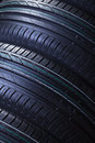 Brand new car tires texture Royalty Free Stock Photos