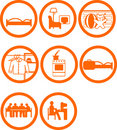 Brand New Home Rooms Icons Stock Photo