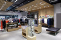 Brand new interior of cloth store luxury and fashionable Stock Images