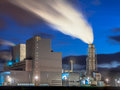Brand new working power plant Royalty Free Stock Photo