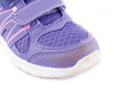 Brand old purple sneakers on white Stock Images