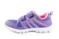 Brand old purple sneakers on white Royalty Free Stock Image