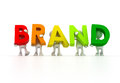 Brand team d isolated holding Stock Images