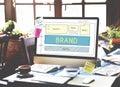 Brand Trademark Marketing Website Plan UI Concept Royalty Free Stock Photo