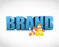Brand under construction cone illustration Royalty Free Stock Images