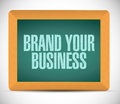 Brand your business illustration design over a white background Royalty Free Stock Photo
