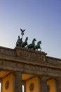 Brandenburg Gate in Berlin Royalty Free Stock Photography