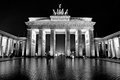 Brandenburg gate berlin black and white picture Royalty Free Stock Image