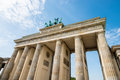Brandenburg gate in berlin capital of germany Royalty Free Stock Images
