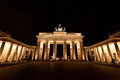 Brandenburg gate in berlin germany at night Royalty Free Stock Images