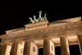 Brandenburg gate in berlin germany at night Stock Photography